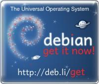 Banner: get Debian!