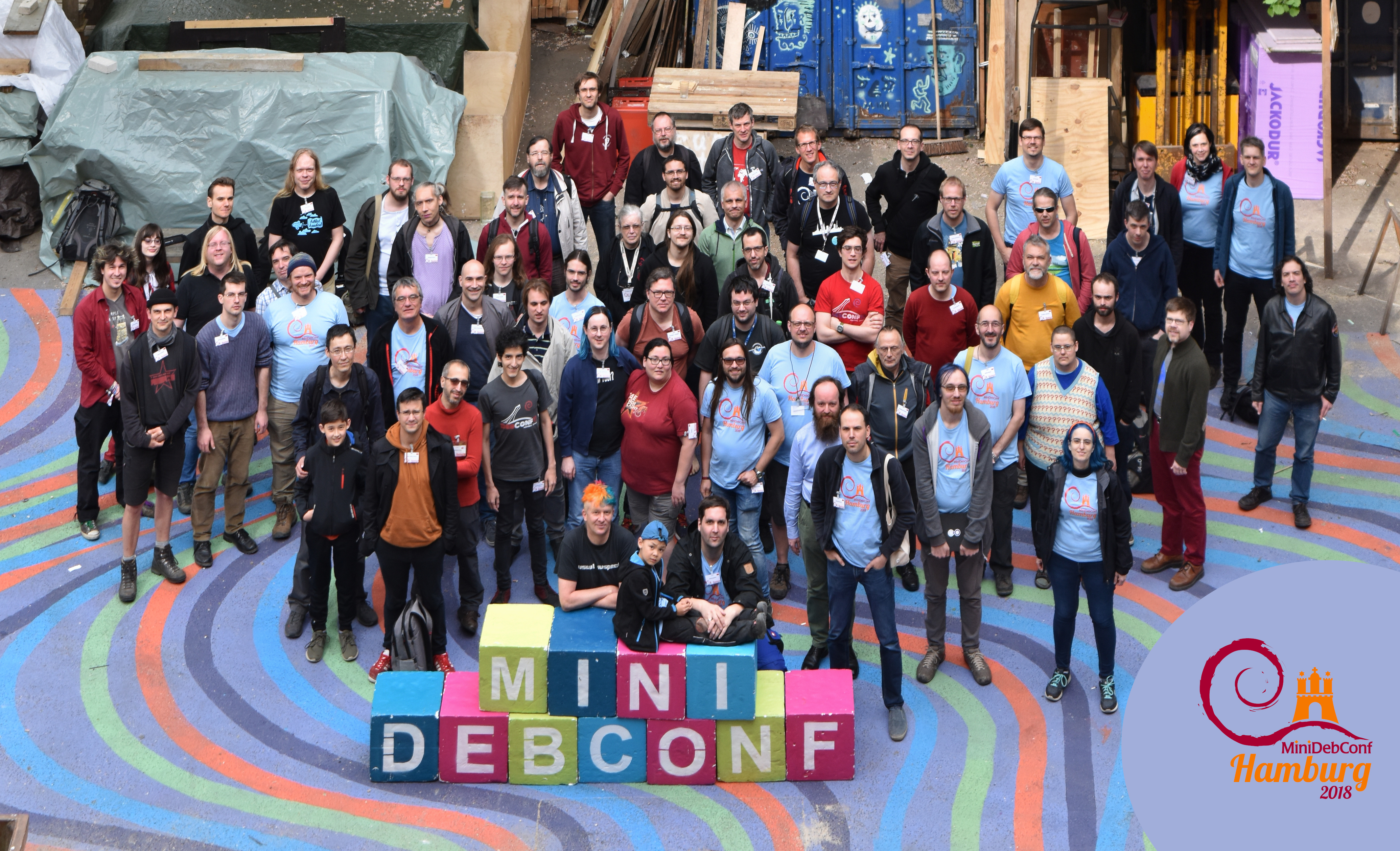 MiniDebConf 2018 Hamburg Group Photo