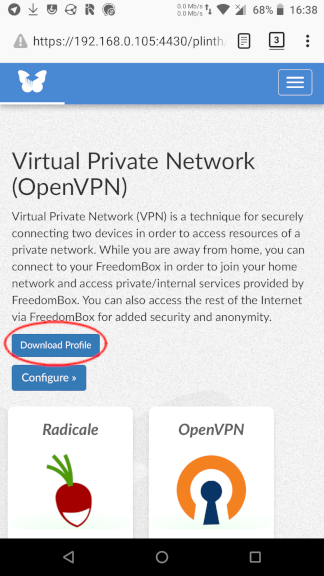 OpenVPN Download Profile