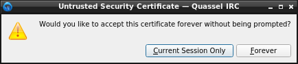 Untrusted Security Certificate